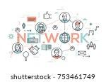creative infographic banner... | Shutterstock .eps vector #753461749