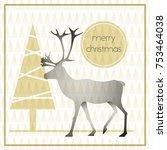 vector modern christmas... | Shutterstock .eps vector #753464038