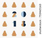 a vector pattern of a golden or ... | Shutterstock .eps vector #753465163