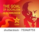 Portrait Of Vladimir Lenin And...