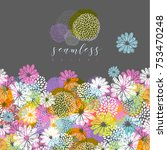 vector seamless pattern with... | Shutterstock .eps vector #753470248