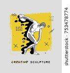 creative modern classical... | Shutterstock .eps vector #753478774