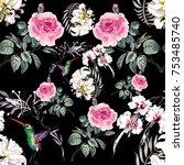 watercolor seamless pattern...   Shutterstock . vector #753485740