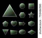 green glass plates set....   Shutterstock . vector #753486580