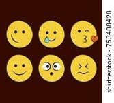 set of smile icons. emoji.... | Shutterstock .eps vector #753488428