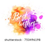 multicolored splash watercolor... | Shutterstock .eps vector #753496198