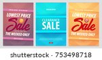 set of sale posters or flyers... | Shutterstock .eps vector #753498718