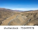 panormama on the high atlas... | Shutterstock . vector #753499978