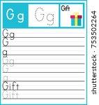 worksheet.alphabet activity for ... | Shutterstock .eps vector #753502264