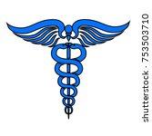 caduceus medical symbol   vector | Shutterstock .eps vector #753503710