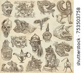 an hand drawn collection. pack...   Shutterstock . vector #753503758