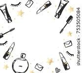 vector hand drawn fashion... | Shutterstock .eps vector #753505084