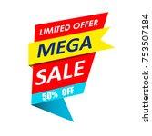 super sale  mega sale  weekend... | Shutterstock .eps vector #753507184