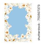 frame made of popcorn over the...   Shutterstock .eps vector #753507373