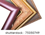 three picture frames are...   Shutterstock . vector #75350749