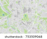 vector city map of madrid with... | Shutterstock .eps vector #753509068