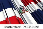 fragment flag of dominican... | Shutterstock . vector #753510220