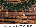 christmas decorations winter... | Shutterstock . vector #753514858