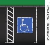 disabled or handicapped parking ... | Shutterstock .eps vector #753519634