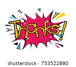 thanks  beautiful greeting card ... | Shutterstock .eps vector #753522880