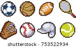 set of game sport icons in... | Shutterstock .eps vector #753522934