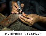thai jeweler  handles the...   Shutterstock . vector #753524239