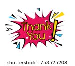 thank you  beautiful greeting... | Shutterstock .eps vector #753525208