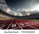 evening stadium arena soccer... | Shutterstock . vector #753526033