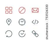 editable pack of url  letter ... | Shutterstock .eps vector #753526330
