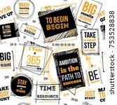 typography phrase seamless...   Shutterstock .eps vector #753528838