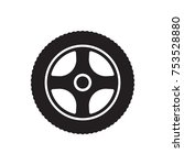 wheel  icon  isolated. flat ... | Shutterstock .eps vector #753528880