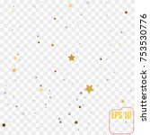 festive flying gold stars shower | Shutterstock .eps vector #753530776