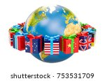 global christmas and new year... | Shutterstock . vector #753531709