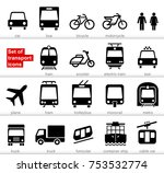 set transport icons on white... | Shutterstock .eps vector #753532774