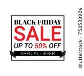 black friday banner background. ... | Shutterstock .eps vector #753533926
