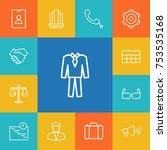 collection of schedule  handset ... | Shutterstock .eps vector #753535168