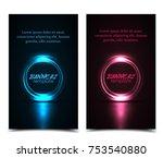 vector illustration abstract... | Shutterstock .eps vector #753540880