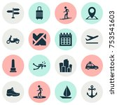 includes icons such as landmark ...   Shutterstock .eps vector #753541603
