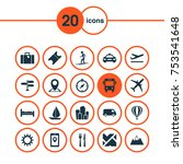 includes icons such as location ... | Shutterstock .eps vector #753541648