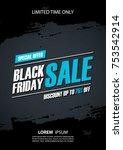 black friday sale promotional... | Shutterstock .eps vector #753542914