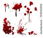 realistic bloody splatters.... | Shutterstock .eps vector #753543550