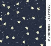 space stars background  night... | Shutterstock .eps vector #753544510