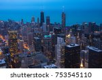 chicago. cityscape image of... | Shutterstock . vector #753545110