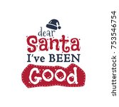 christmas typography quote... | Shutterstock .eps vector #753546754