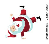cartoon santa claus break... | Shutterstock .eps vector #753548050