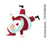 cartoon santa claus break... | Shutterstock .eps vector #753548050