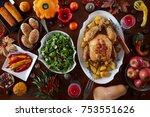 thanksgiving celebration...   Shutterstock . vector #753551626