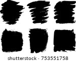 vector collection or set of... | Shutterstock .eps vector #753551758