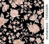 floral seamless pattern. flower ... | Shutterstock .eps vector #753552634