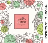 background with quinoa  plant... | Shutterstock .eps vector #753556333